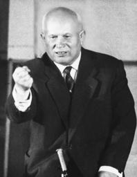 Nikita Chruschtschow in Paris 1960 - Pk