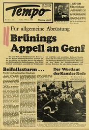 Genfer Abrüstungskonferenz 1932 - Geneve Disarmament Conference 1932 -