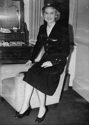 Aviation Denmark Chief Air Hostess Of Scandinovian Airlines Miss Meret Torner