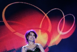 Hong Kong singer Joey Yung performs during a show celebrating the countdown to the new year in Hong Kong