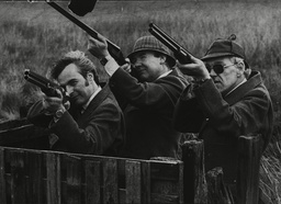 Shooting Grouse On Ilkley Moor Yorkshire Are Businessmen (l-r) Richard Danon Frank Kuhne And Geoffrey Spink.