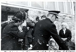 A Screaming Mob Of Women And Children Pelted M.p. Michael Heseltine With Eggs And Rotten Fruit Yesterday. A Tomato Struck The Environment Secretary In The Face And His Smart Grey Suit Was Splattered With Egg Yolk. Policemen Were Also Showered By Miss