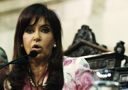 Argentina's President Fernandez addresses the Congress during the inauguration of the annual ordinary session in Buenos Aires