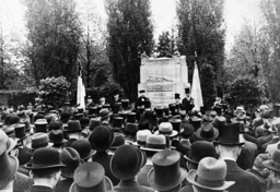 Berlin/ Gedenkfeier des RjF 1936/ Foto - Commemoration for Jewish soldiers / 1936 -