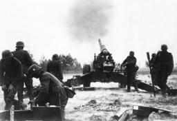 German Artillery near Warsaw, 1939
