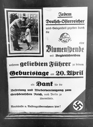 An advertisement of the Fleurop, 1938