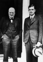 Winston Churchill and Ernst Bohle, 1937