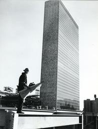 New York, UB Headquarters, Baustelle, Bauarbeiter/ Foto 1950 - -