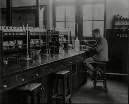 A Pupil At Work In The 6th Form Laboratory At Repton School In Derbyshire - 1930's