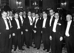 Goebbels with artists at the 9th Congress of Composers and Authors