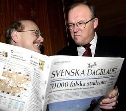 Statsminister Göran Persson tyckte till om den nydesingnade Svenska Dagbladet.