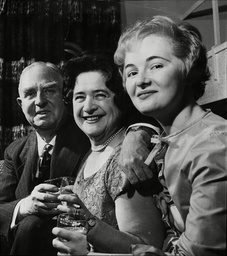 Farewell Party To Boac Pilot Captain Edward Burt Retiring At The Age Of 60 Pictured Is Edward Burt (left) Wife Mrs Burt (centre) And Daughter Miss Caroline Burt (right)
