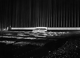 Cathedral of Light on the Nazi Party Rally, 1936