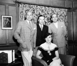 Samuel Goldwyn, Charles Chaplin, Douglas Fairbanks Sr., actress Mary Pickford