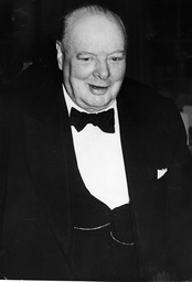 Sir Winston Churchill Is Seen Arriving For The Private Dinner Party Given By The Conservative Party Admirers At The Savoy Hotel In Celebration Of His Fifty Years In Parliament.