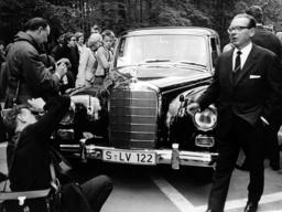 Queen Elizabeth II. on state visit in Germany 1965