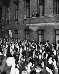 Joseph Goebbels, Adolf Hitler and Hermann Goering, 1938
