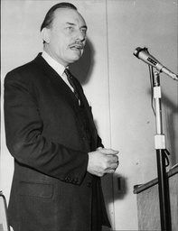 Enoch Powell Mp Speaking On Immigration At A Rotary Club Meeting At The Burlington Hotel In Eastbourne In 1968.
