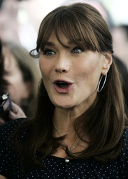 France's first lady Carla Bruni-Sarkozy is pictured in Rio de Janeiro