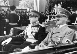 Hitler and Prince Regent Paul, 1939 in the car