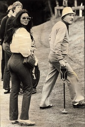 Bruce Forsyth With Miss World 1975 Wilnellia Merced At The Pro-am European Open Golf Tournament At Sunningdale.