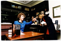 Writer And Former-mp Edwina Currie Signs Copies Of Her Book At Her Book Launch In Hatchards Piccadilly.