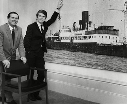 Alan Crawford And Rohan O'rahilly Joint Managing Directors Of Radio Caroline At Their London Office
