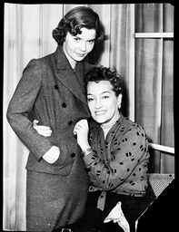 Gloria Swanson Pictured With Her 18-year-old Daughter Michelle In October 1950.