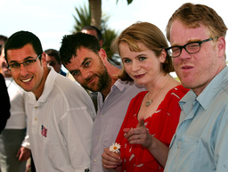 CAPTION CORRECTION AMERICAN DIRECTOR PAUL THOMAS ANDERSON POSES WITH ACTORS DURING A PHOTOCALL IN CANNES