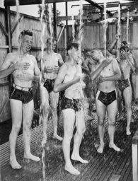 American scouts showering, 1937