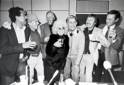 Barbara Windsor At The Bbc's Open House Studio Today Shortly After Her Husband Appeared In Court Accused Of Murder. Barbara Fought Back Her Tears And Said: 'l Just Decided Too Put A Brave Face On For Everybody.' Helping Her Were (left To Right): K