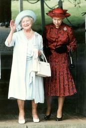 The Queen Mother Celebrates Her 91st Birthday At Sandringham With The Queen 1991