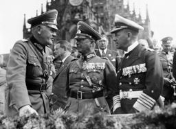 Werner von Blomberg Werner von Fritsch and Erich Raeder during a parade, 1936