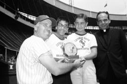 Duke Snider, Steven Bento, Joseph Albano, John Brooks