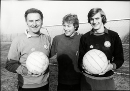 Harry Gregg With Fellow Goalkeepers Stephen Pears And Paddy Roche 1978.