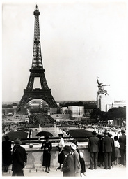The Eiffel Tower Paris France Which Formed Part Of Paris Exhibition. The View Was Taken From The Trocadero In 1937.
