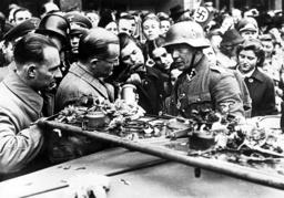 Entry of the SS Bodyguard Regiment 'Adolf Hitler' in Prague