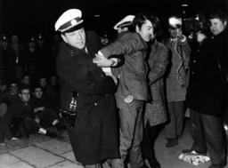 Arrest in front of America House in Munich