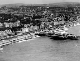Aerial View Of St Leonards Hastings Sussex Showing The Pier.