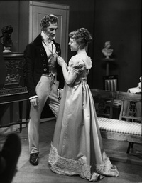 Daphne Slater Actress And Peter Cushing Pictured As They Appear In The Bbc Television Play 'beau Brummel'.