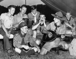 Boy scouts at an international camp, 1937