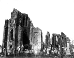 The ruin of the church of Langemark