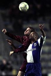 CZECH PLAYER TOMAS CIZEK OF SPARTA PRAGUE CHALLENGES FC PORTO PLAYER COSTINHA