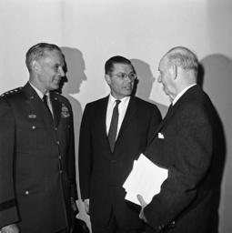 Robert S. McNamara, Maxwell Taylor, Carl Vinson
