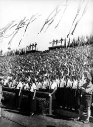 League of German Girls (BDM) at the Nuremberg Rally in Nuremberg, 1936