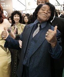 File photo of singer James Brown arriving at the 47th annual Grammy Awards in Los Angeles