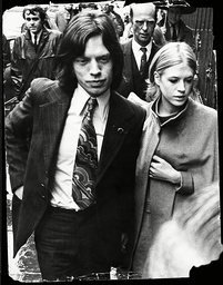 The Roling Stones Mick Jagger And His Girlfriend Marianne Faithfull Dress More Formally For Their Court Appearance On 23 June. 23/6/69