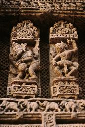 Konarak, Sonnentempel, Musikanten / Reliefs - Konarak, Sun Temple, Musicians / Relief - Konarak, temple du Soleil, musiciens / Reliefs