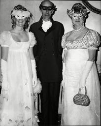 Prince Andrew Of Russia With His Wife And Daughter Princess Olga Romanoff Wearing A Dress By Hardy Amies At Her Coming-out Party.