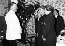 Hitler with athletes